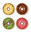 donuts with cream and glaze isolated vector image