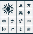 hot icons set collection of armature goggles vector image