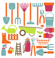 gardening icons in flat vector image