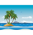 Tropical island in the ocean2 vector image