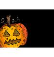 Happy Halloween old pumpkin face lantern EPS10 vector image