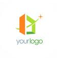 square building 3d logo vector image