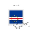 Cape Verde Flag Postage Stamp vector image
