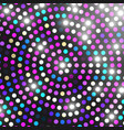 abstract light mosaic disco background vintage vector image