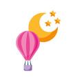 balloon air hot with moon vector image
