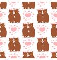 cartoon bear character teddy pose seamless vector image