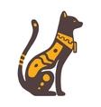 Egypt cat vector image