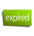 Expired green paper sign isolated on white vector image