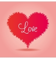 love heart over pink background icon vector image