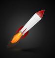Rocket space ship vector image