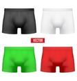 Set Male of different colors underpants briefs vector image