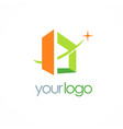 square building 3d logo vector image