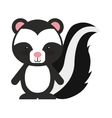woodland zorrillo animal character cute icon vector image