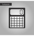 black and white style icon of calculator vector image