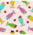 Milkshake hand drawn stitch patch icon pattern vector image