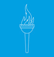 torch icon outline style vector image