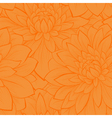 seamless pattern with blooming yellow dahlias vector image