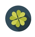 Flat Design Concept Clover With Long Shadow vector image