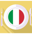 kitchen of Italy vector image