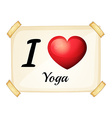 I love yoga vector image vector image