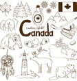 Collection of Canada icons vector image