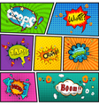 Comic speech bubbles background divided by lines v vector image vector image
