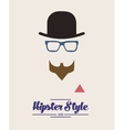 hipster style background vector image vector image