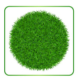 Green grass background Circle 1 vector image