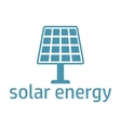 green energy logo solar panel vector image