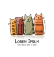 Funny cats family sketch for your design vector image vector image