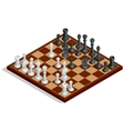 Chess board chess game Chess on chessboard vector image
