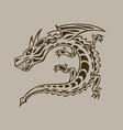 dragon ink hand drawn vector image