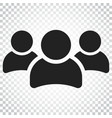 group of people icon persons icon simple vector image