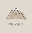 Mountains logo in line style Mono line logotype vector image