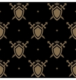 Seamless pattern sword and shield vector image