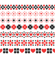 set of seamless card suits ribbons vector image