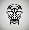 Tribal Demon Skull vector image