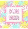 Summer card background vector image