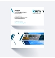 business card template with banner and vector image