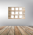 Wood frame and wood floor vector image