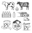 Set of milk and creamery design elements vector image