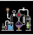Chemistry Laboratory Infographic Set 2 vector image