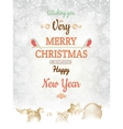 Christmas greetings card template EPS 10 vector image
