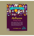 Halloween Holiday Template Banner Flyer Modern vector image