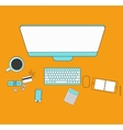 Set of flat design for desktop Line icons flat vector image