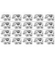 Ethnic tribal Seamless Pattern with elephants vector image vector image