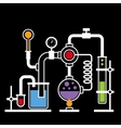 Chemistry Laboratory Infographic Set 2 vector image