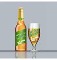 Digital glass of beer with foam vector image