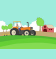 farmer driving a tractor vector image