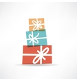 holiday gifts icon vector image
